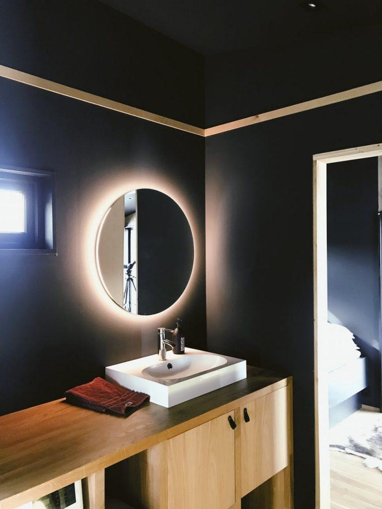 elegir un espejo de baño
